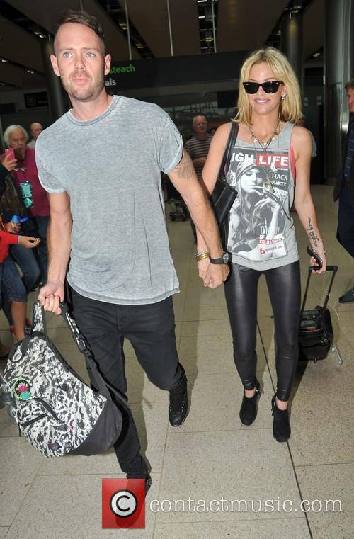 Sarah Harding and Boyfriend arriving at Dublin Airport