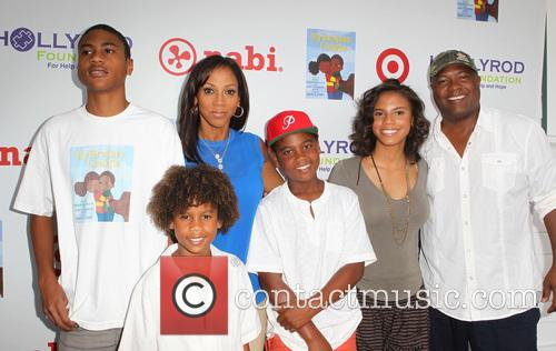 Holly Robinson Peete, Ryan Elizabeth Peete and Rodney Peete 5