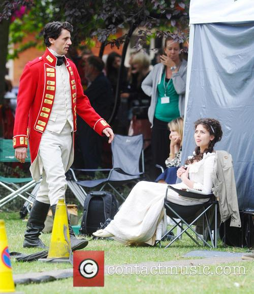 Cast of 'Death Comes to Pemberley' filming in...