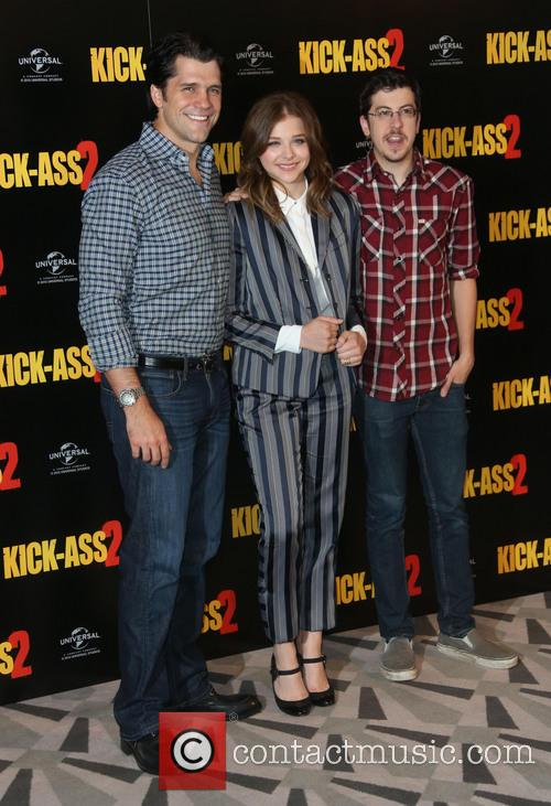 Jeff Wadlow, Chloe Moretz and Christopher Mintz-plasse 2