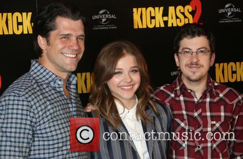 Jeff Wadlow, Chloe Moretz and Christopher Mintz-plasse 4