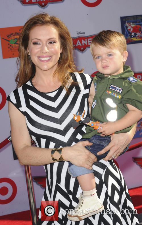 Alyssa Milano and Milo Bugliari 3