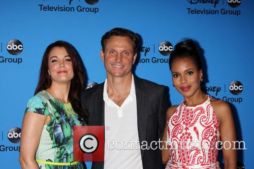 Bellamy Young, Tony Goldwyn and Kerry Washington 2
