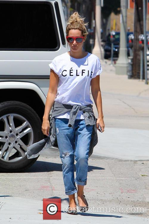 Ashley Tisdale heads to the recording studio