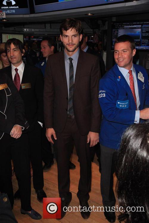 Ashton Kutcher, NYSE Wall St