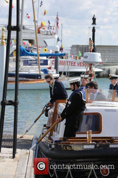 Princess Anne arriving in Cowes