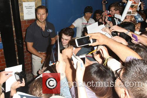 Daniel Radcliffe leaving the Noel Coward theatre