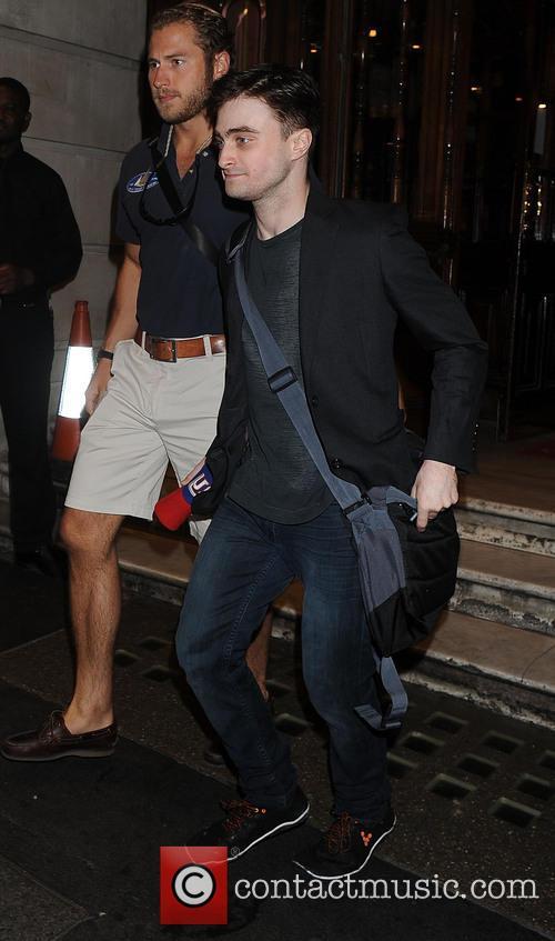 Daniel Radcliffe Leaving Theatre in London