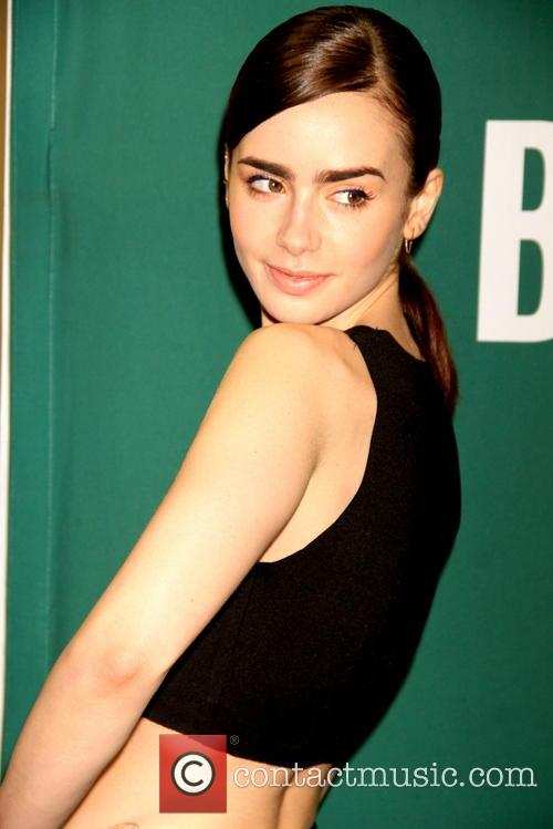 Lily Collins does a meet and greet to...