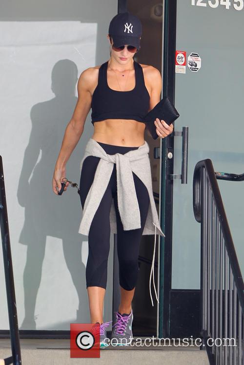 Rosie Huntington-Whiteley At The Gym