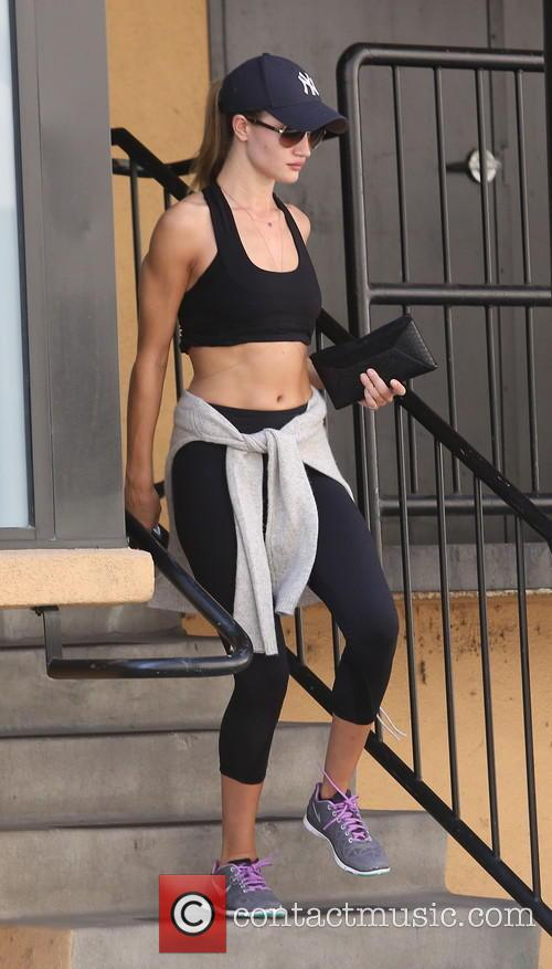 Rosie Huntington-Whiteley spotted leaving the gym in Studio...