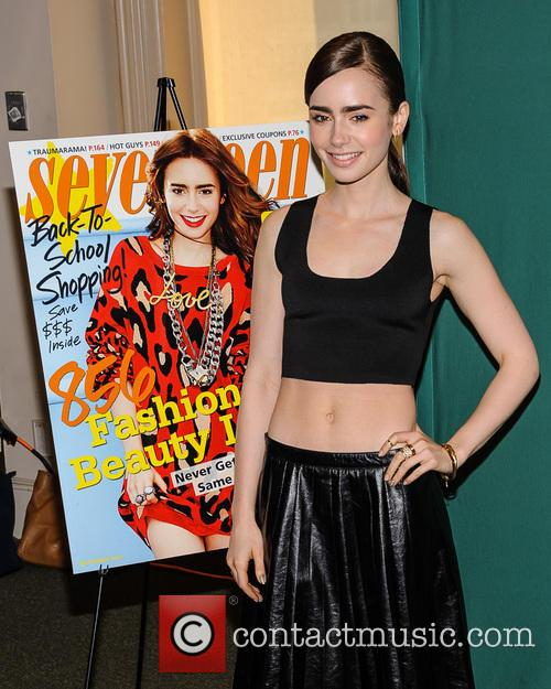 Lily Collins Seventeen Magazine Signing