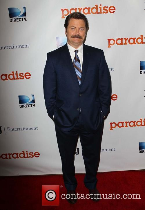 nick offerman paradise los angeles premiere 3802067