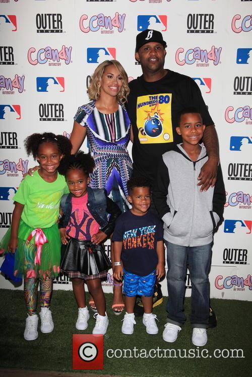 Cc Sabathia, Amber Sabathia and Children 2