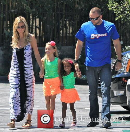 Heidi Klum and family on coffee run