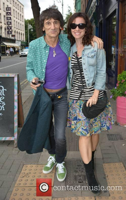 Ronnie Wood and new wife Sally Humphreys