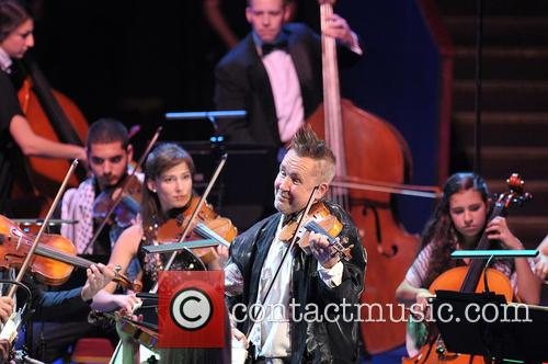 Nigel Kennedy performs with the Palestine Strings and...