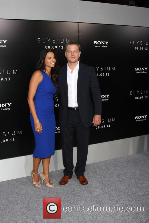 Matt Damon and Luciana Barroso 2
