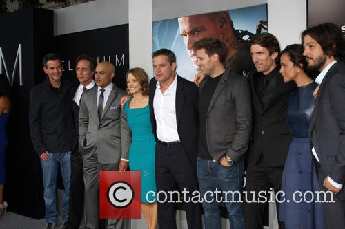 Simon Kinberg, William Fichtner, Faran Tahir, Jodie Foster, Matt Damon, Neill Blomkamp, Sharlto Copley, Alice Braga and Diego
