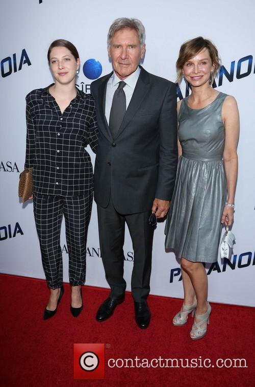 Calista Flockhart, Harrison Ford and Daughter 3