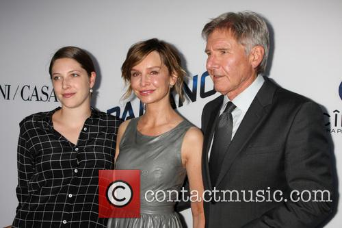 Georgia Ford, Calista Flockhart and Harrison Ford 1