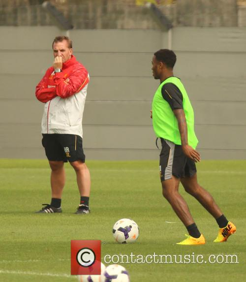 Raheem Sterling training at Melwood
