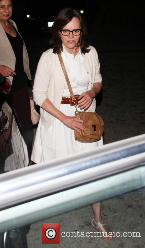 Sally Field leaving Madeo Restaurant after having dinner