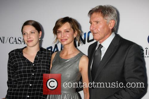 Georgia Ford, Calista Flockhart and Harrison Ford 2