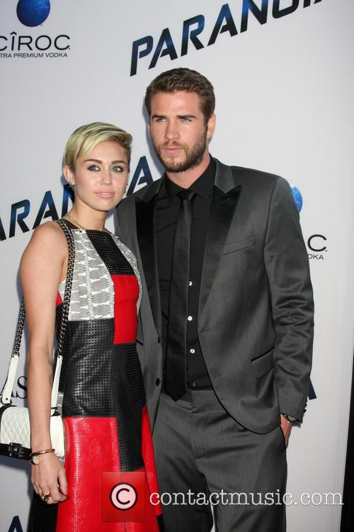 Miley Cyrus, Liam Hemsworth, Paranoia Premiere