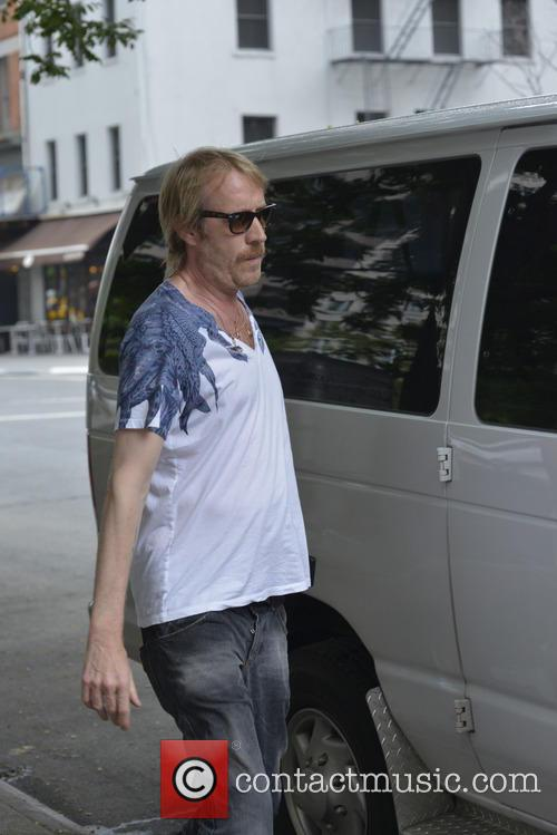 Rhys Ifans on his way to a movie set