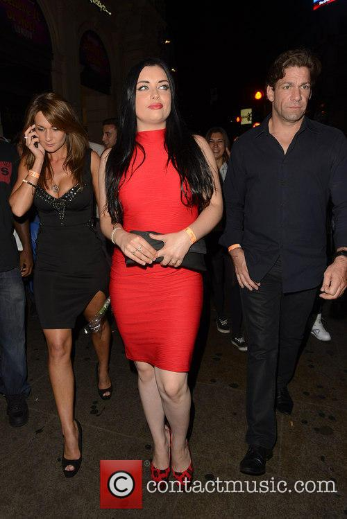 Ferne McCann and Shona McGarty leaving Cafe de...