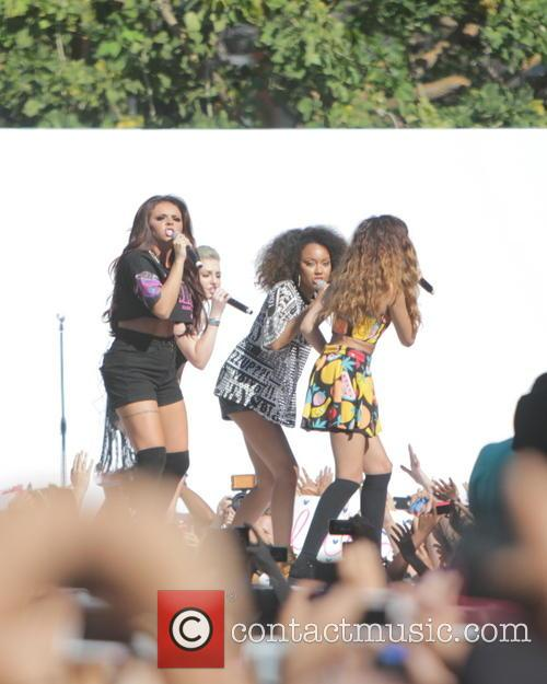UK Band Little MIX preforms at The Grove