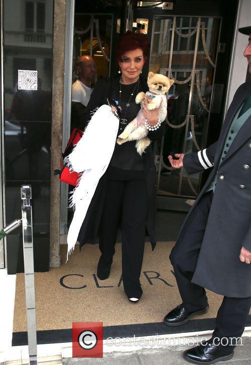 Sharon Osbourne and her dog
