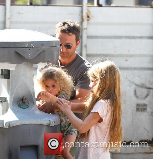 Breckin Meyer, Caitlin Willow Meyer and Clover Meyer 6