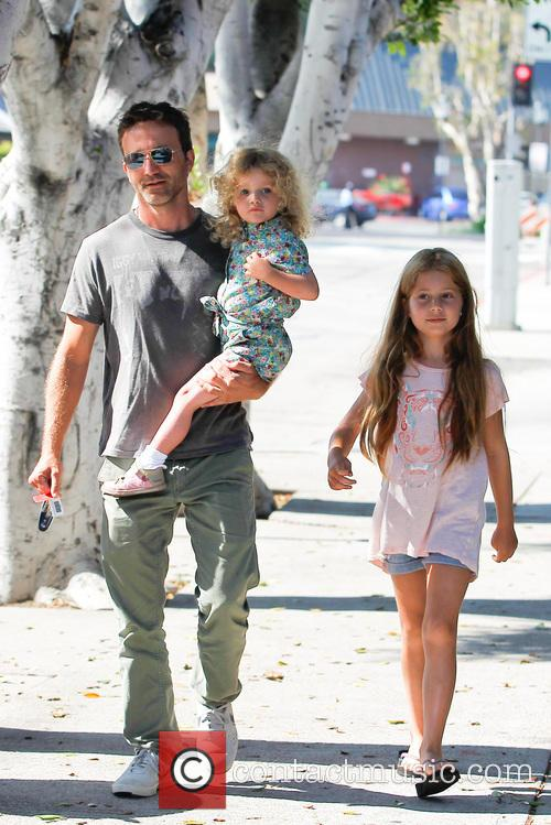 Breckin Meyer, Caitlin Willow Meyer and Clover Meyer 7