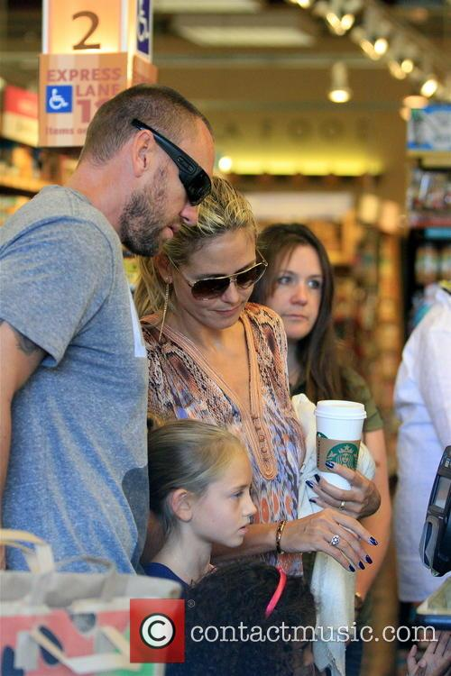 Heidi Klum shopping with her family in Brentwood