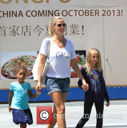 Heidi Klum and kids of to the movies