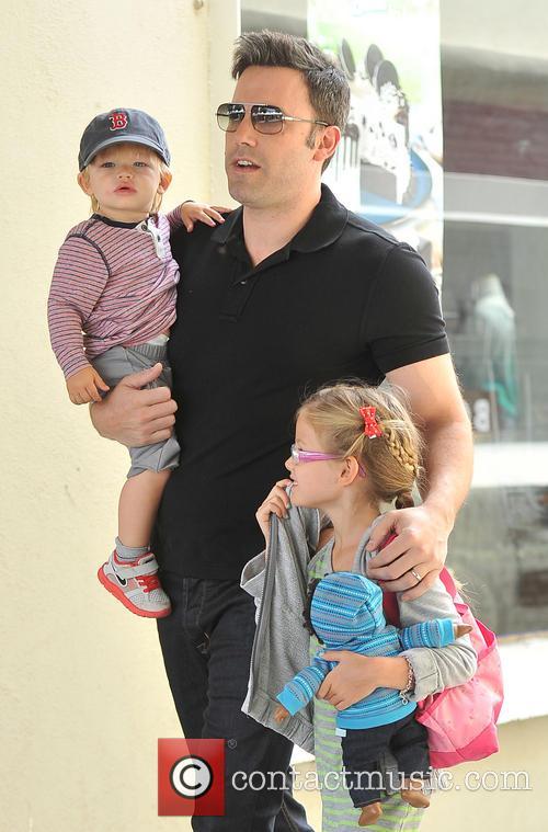 Ben Affleck, Samuel Affleck and Violet Affleck 2