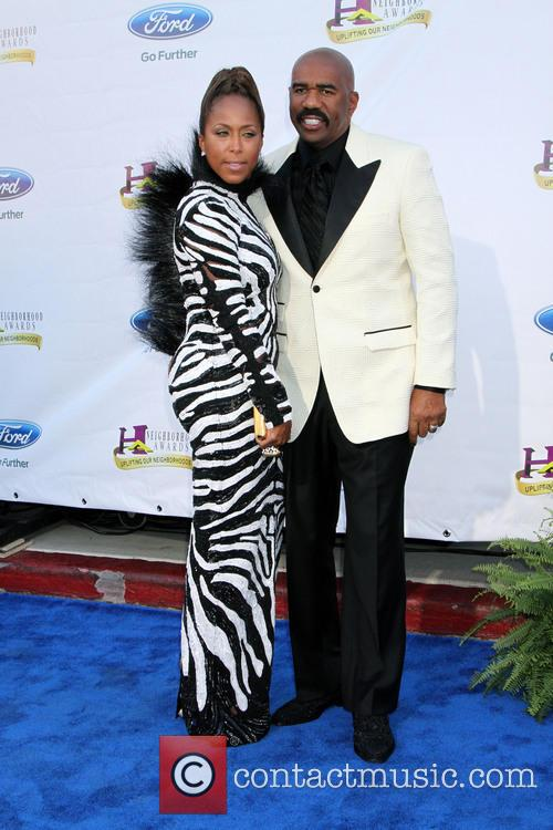 Picture - Steve Harvey and Marjorie Harvey
