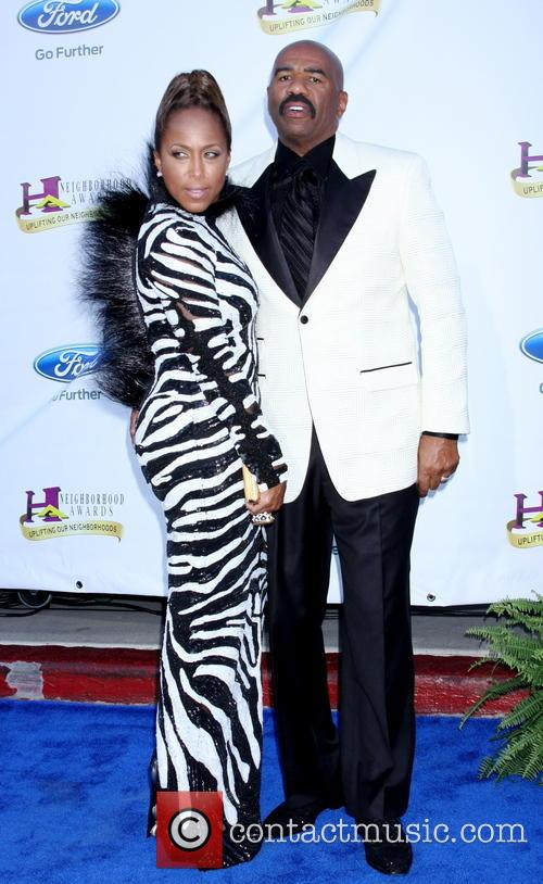 Steve Harvey and wife Marjorie Bridges 2