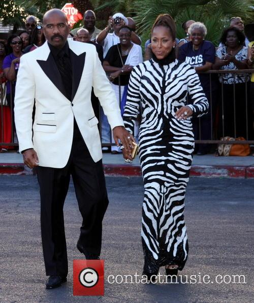 Steve Harvey and wife Marjorie Bridges 4