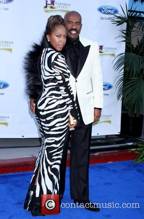 Steve Harvey and wife Marjorie Bridges 1