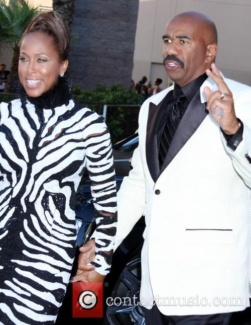 Steve Harvey and wife Marjorie Bridges 6