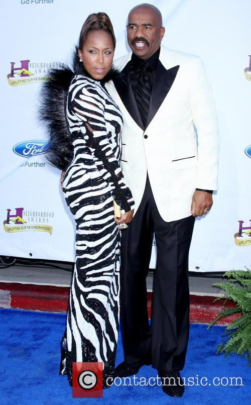 Steve Harvey and wife Marjorie Bridges 7