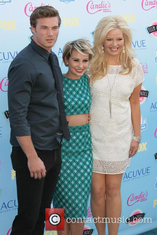 Derek Theler, Chelsea Kane and Melissa Peterman