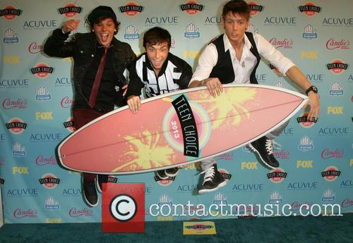 Teen Choice Awards, Keaton Stromberg, Drew Chadwick and And Wesley Stromberg Of 'emblem3' 5