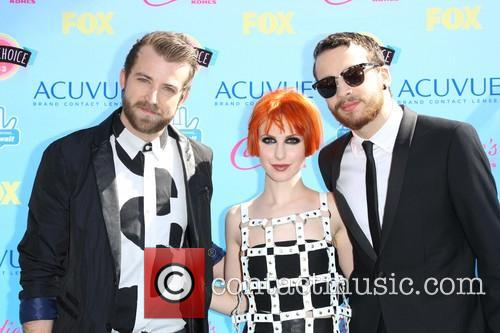 Jeremy Davis, Hayley Williams and Taylor York Of Paramore 2
