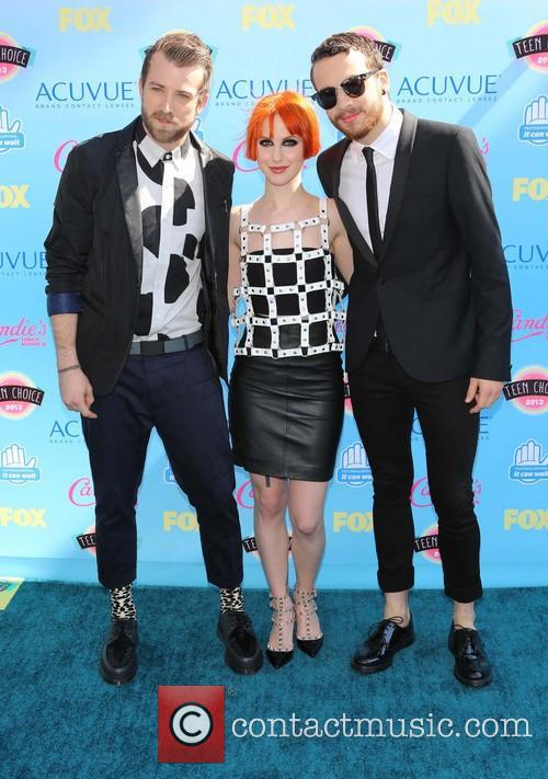Jeremy Davis, Hayley Williams and Taylor York Of Paramore 3