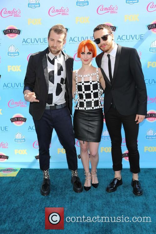 Jeremy Davis, Hayley Williams and Taylor York Of Paramore 4