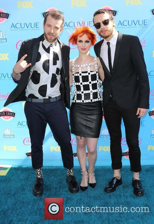 Jeremy Davis, Hayley Williams and Taylor York Of Paramore 6